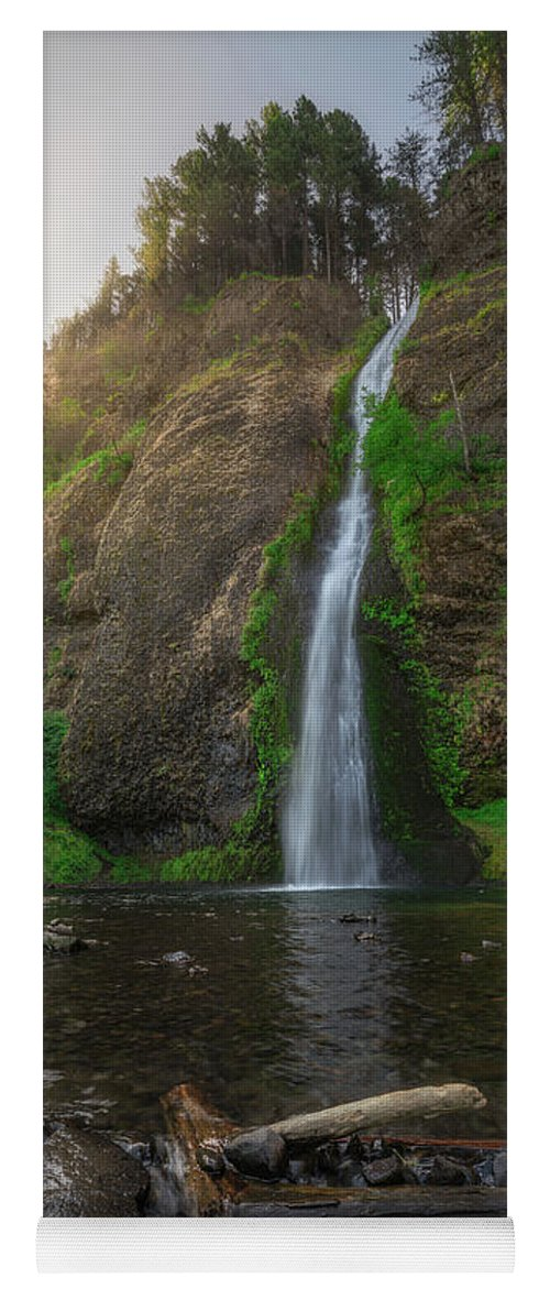 Horsetail Falls Yoga Mat featuring the photograph Horsetail Falls by Michael Ver Sprill