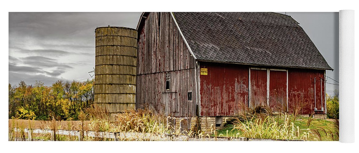 Landscape Yoga Mat featuring the photograph Indiana Barn #106 by Scott Smith