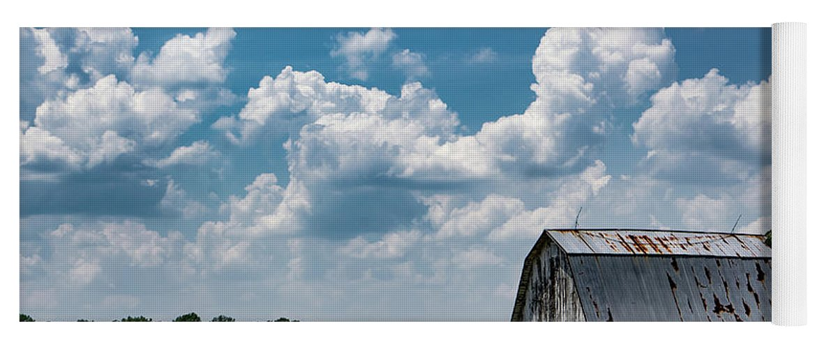 Barn Yoga Mat featuring the photograph Indiana Barn, #5 by Scott Smith