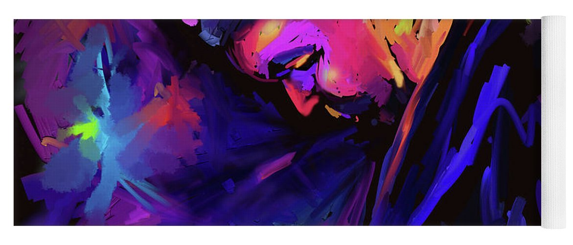 Dave Frank Yoga Mat featuring the painting Jazz Monster Dave Frank by DC Langer
