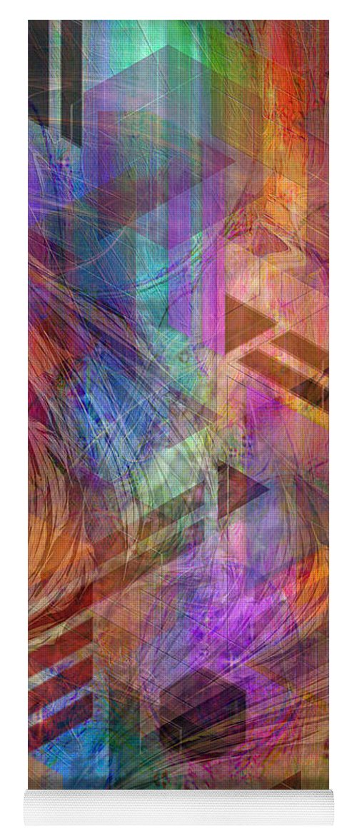 Magnetic Abstraction Yoga Mat featuring the digital art Magnetic Abstraction by John Robert Beck