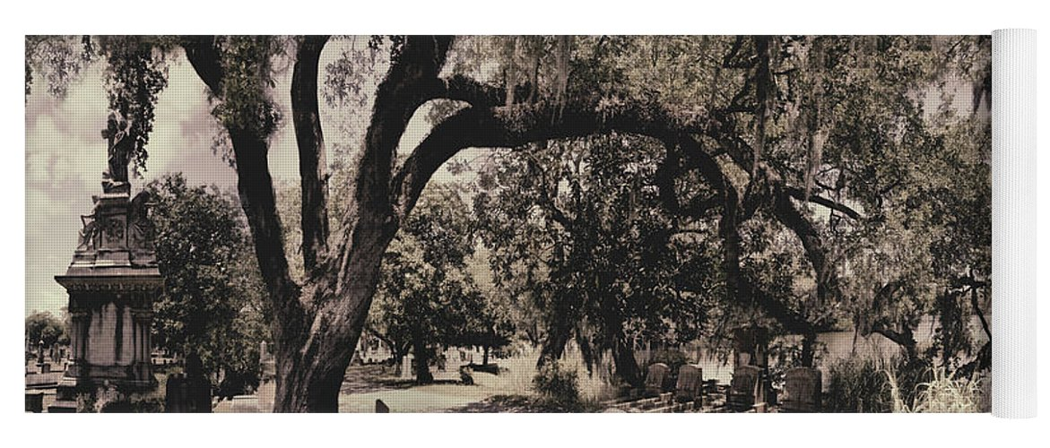 Castle Yoga Mat featuring the photograph Magnolia Cemetery by James Christopher Hill