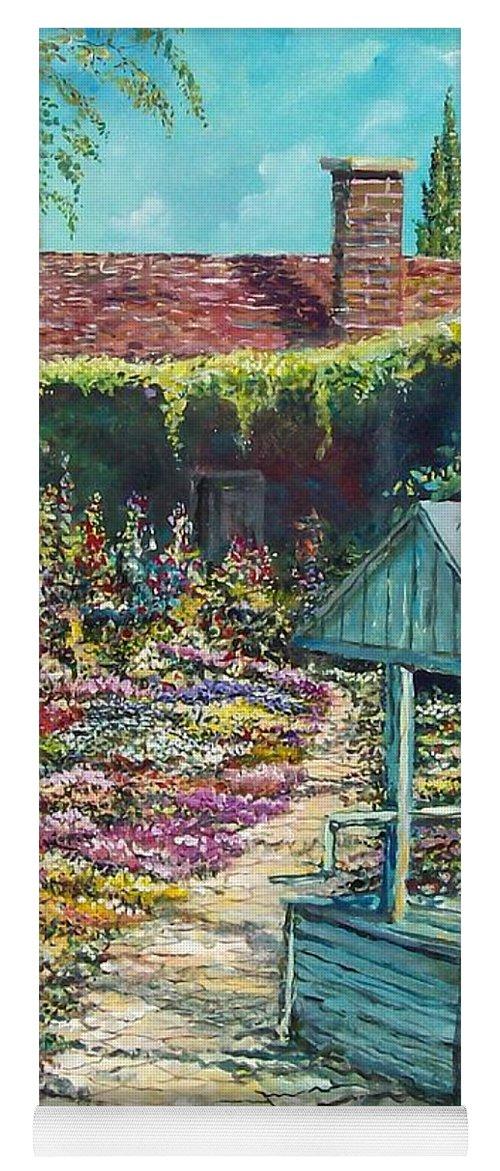 Garden Yoga Mat featuring the painting Mary's Garden by Sinisa Saratlic