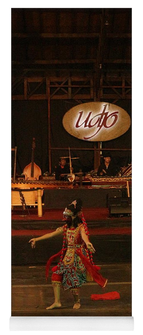 Dance Yoga Mat featuring the photograph Mask Dance by Lingga Tiara Setiadi