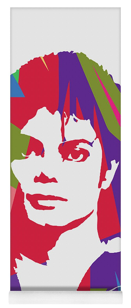 Michael Jackson Yoga Mat featuring the digital art Michael Jackson 2 POP ART by Ahmad Nusyirwan