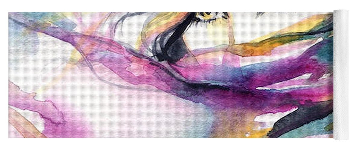Art Of The Parade Society Yoga Mat featuring the digital art Mystic Vixens by Art of the Parade Society