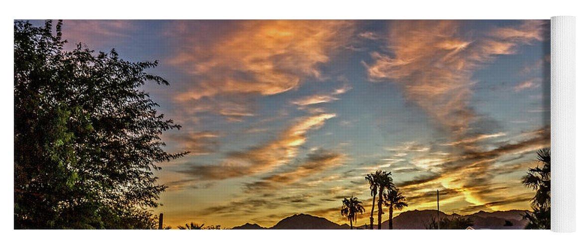 Arizona Yoga Mat featuring the photograph Neighbor Sunrise by Robert Bales