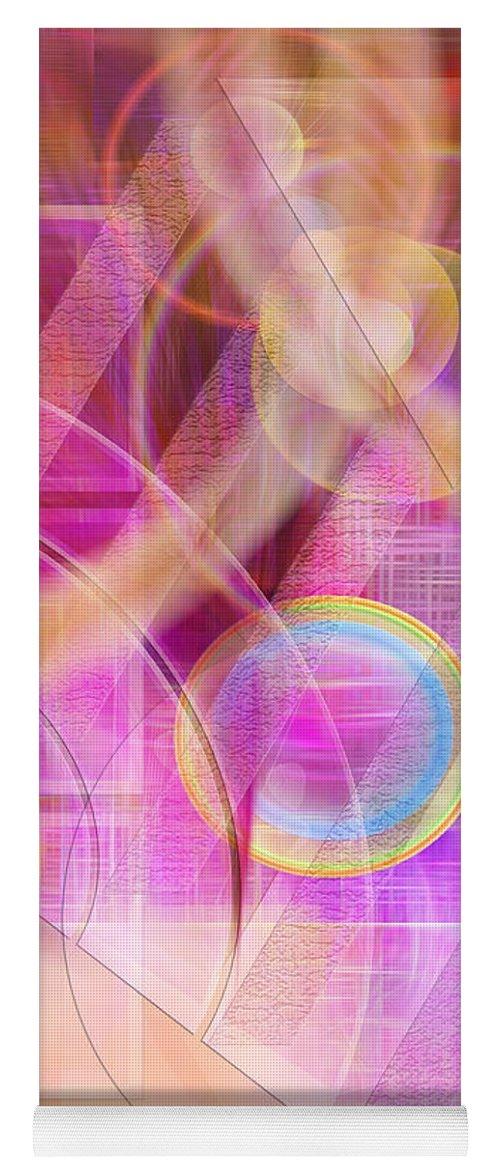 Northern Lights Yoga Mat featuring the digital art Northern Lights by John Robert Beck