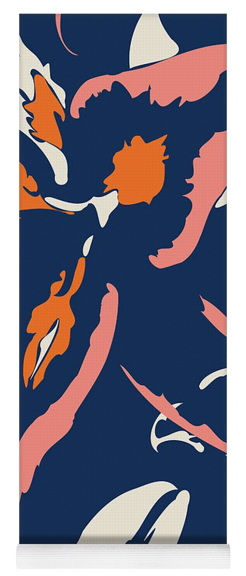 Abstract Yoga Mat featuring the digital art Peaches And Cream by Absentis Designs