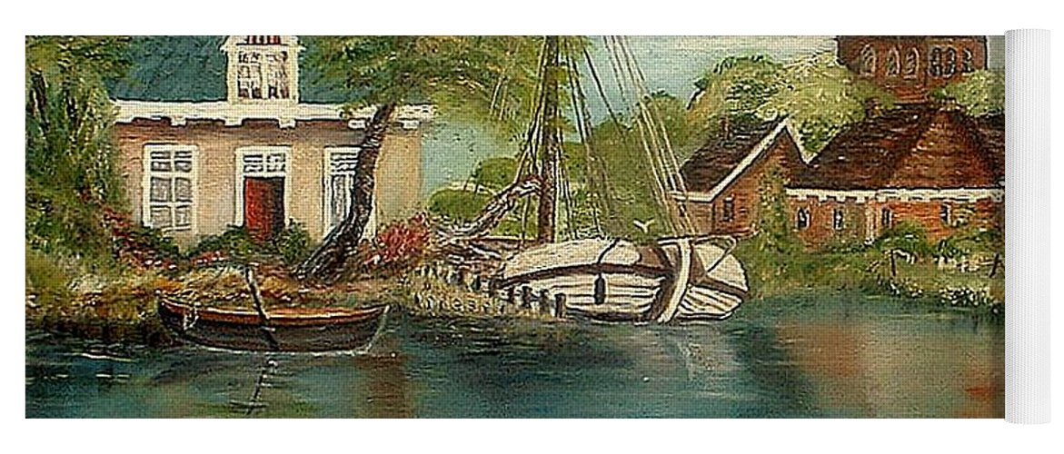 Ocean Sailing Home Retired Yoga Mat featuring the painting Retired Sailor by Kenneth LePoidevin