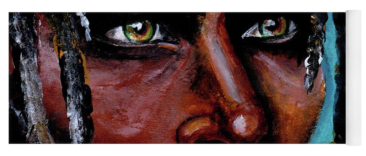 Eyes Yoga Mat featuring the painting Selfless Life by Artist RiA