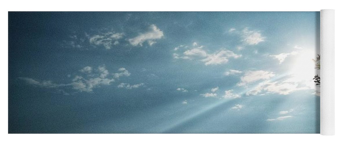 Sky Yoga Mat featuring the photograph Striking rays by Yvonne's Ogolla
