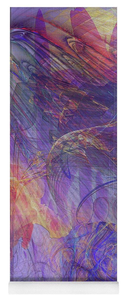 Summer Awakes Yoga Mat featuring the digital art Summer Awakes by John Robert Beck