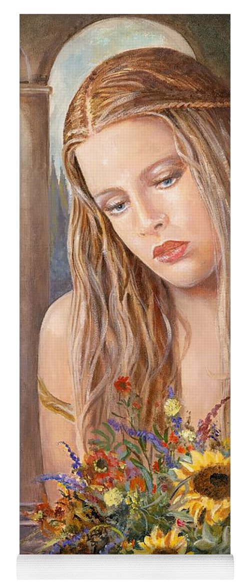 Portrait Yoga Mat featuring the painting Summer Day by Sinisa Saratlic