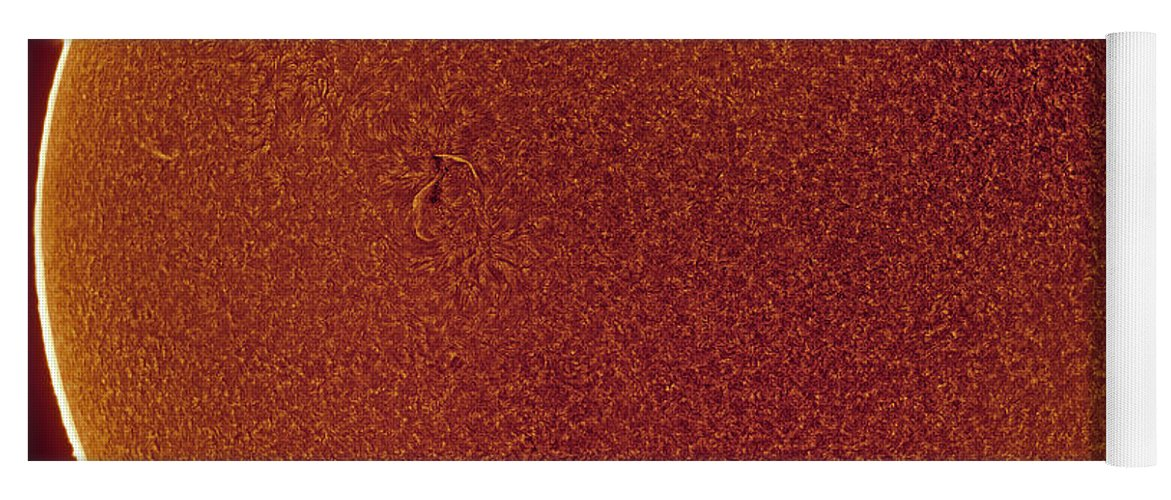 Yoga Mat featuring the photograph Sun in Hydrogen-alpha by Prabhu Astrophotography