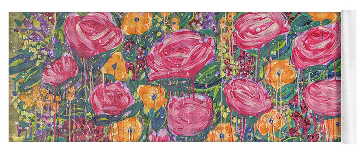 English Garden Yoga Mat featuring the painting The Garden by Amanda Armstrong