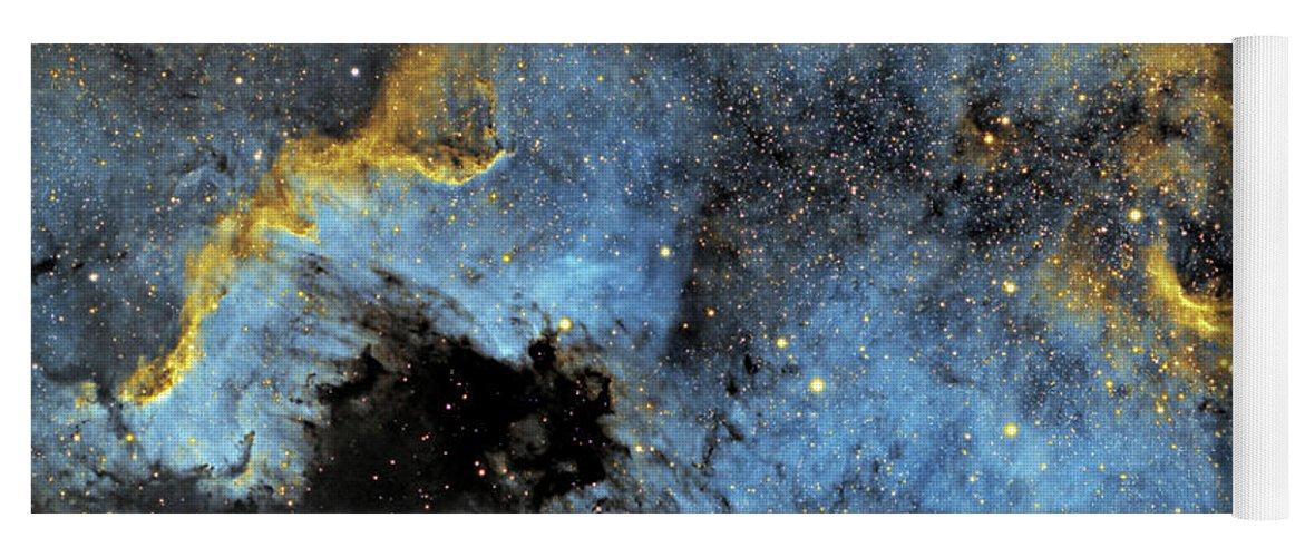 Nebula Yoga Mat featuring the photograph The North America Nebula by Prabhu Astrophotography