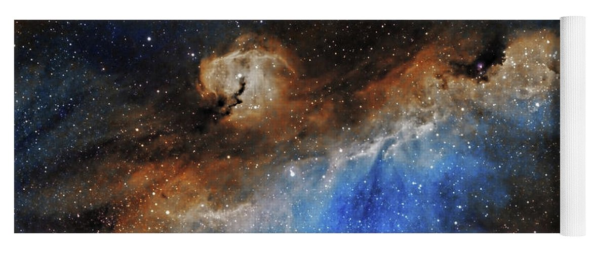 Astronomy Yoga Mat featuring the photograph The Seagull Nebula by Prabhu Astrophotography