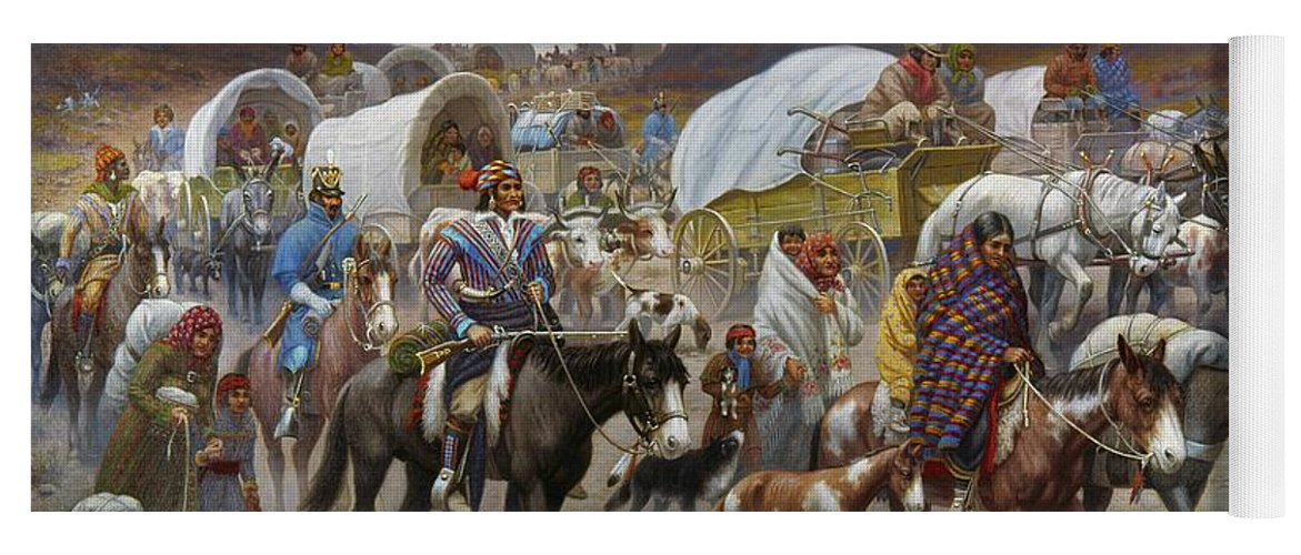 1838 Yoga Mat featuring the painting The Trail Of Tears by Granger