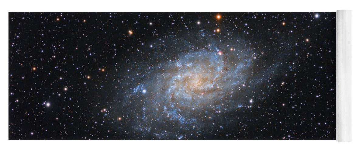 Galaxy Yoga Mat featuring the photograph Triangulum Galaxy by Prabhu Astrophotography