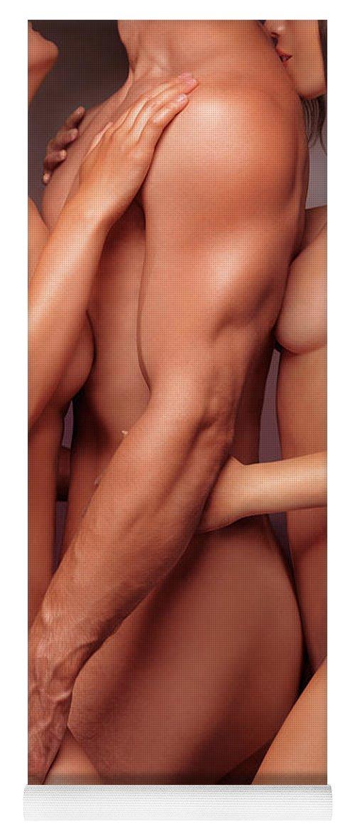 Beautiful women nude yoga
