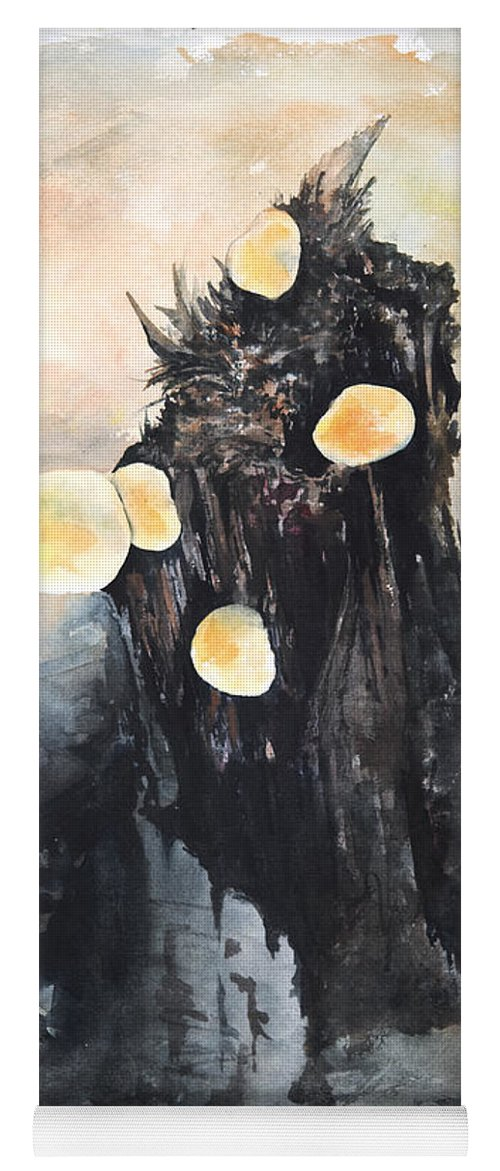 Landscape Yoga Mat featuring the painting Vermont Mushrooms by William Russell Nowicki