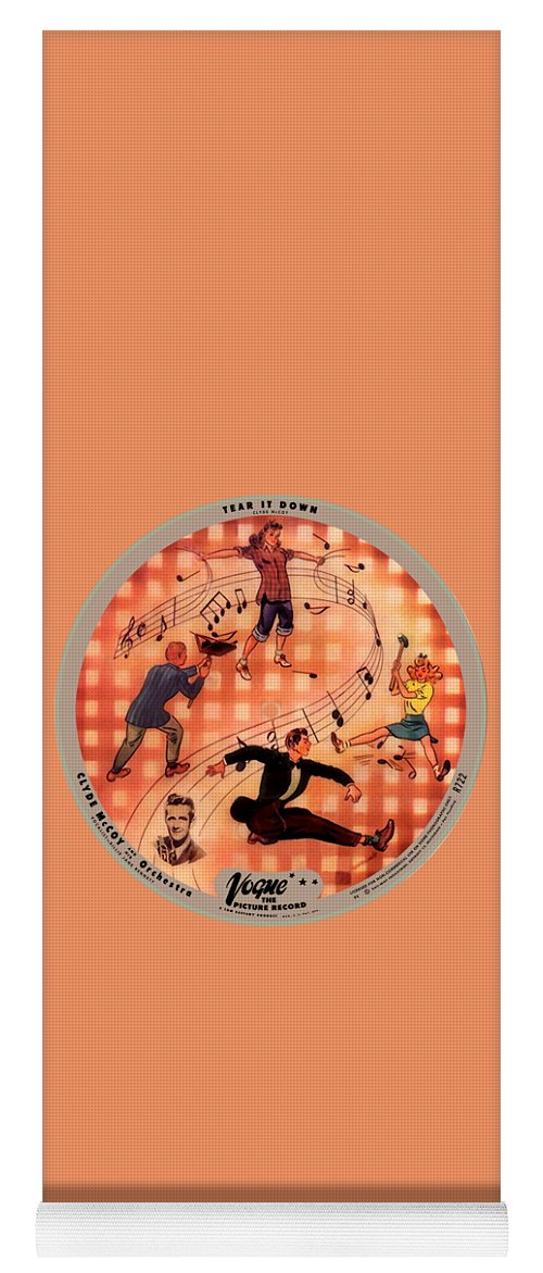 Vogue Picture Record Yoga Mat featuring the photograph Vogue Record Art - R 722 - P 6 - Square Version by John Robert Beck