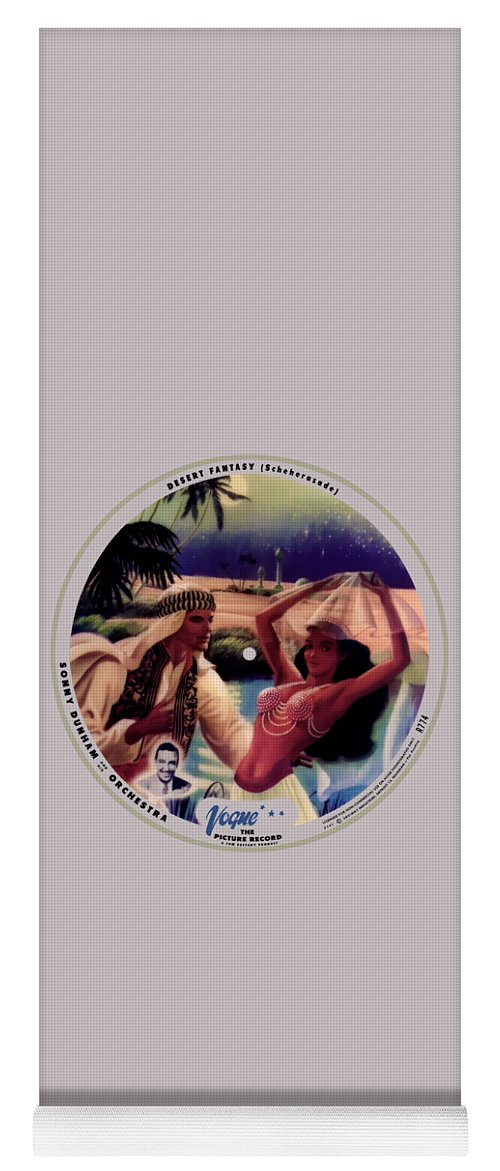 Vogue Picture Record Yoga Mat featuring the digital art Vogue Record Art - R 774 - P 141 - Square Version by John Robert Beck