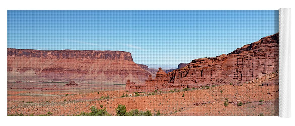 Fisher Towers Yoga Mat featuring the photograph Wild Utah Landscape by Jim Thompson