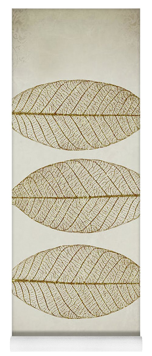 Leaf Yoga Mat featuring the photograph Zen Leaves by Delphimages Photo Creations