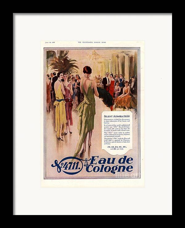 1920�s Framed Print featuring the drawing 1928 1920s Uk 4711 Eau De Cologne by The Advertising Archives