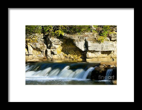 Landscape Framed Print featuring the photograph A Quiet Place Waterfall by Peggy Franz