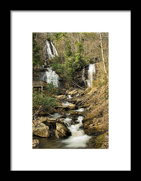 Amicola Framed Print featuring the photograph Amacola Falls by Penny Lisowski