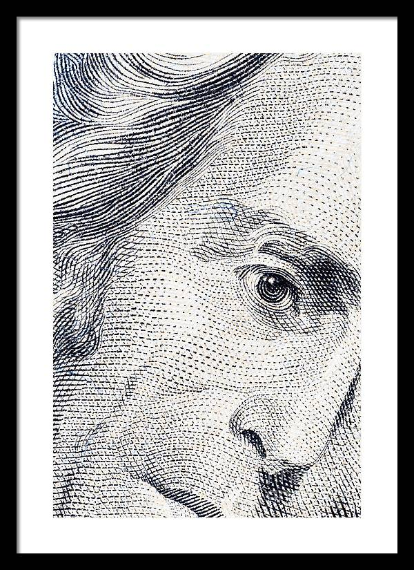 Andrew Framed Print featuring the photograph Andrew Jackson's Twenty Dollars Portrait by G J
