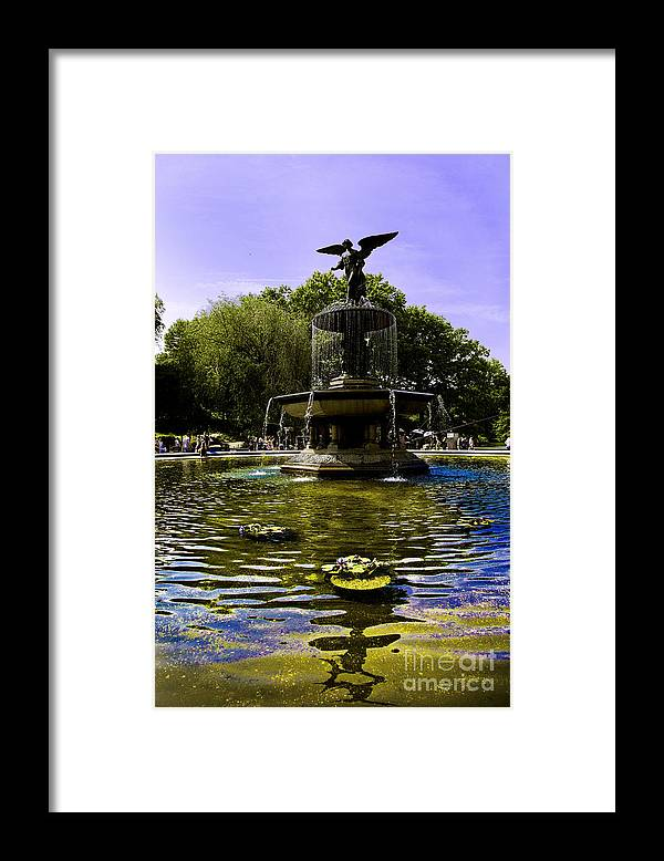 Bethesda Fountain Framed Print featuring the photograph Bethesda Fountain - Central Park by Madeline Ellis