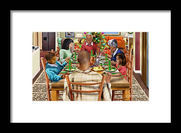 bless us o lord and these thy gifts framed print by reggie duffie