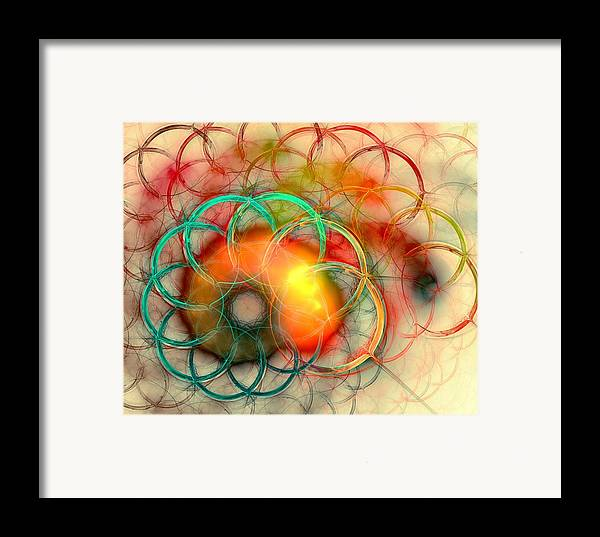 Malakhova Framed Print featuring the digital art Chain Of Events by Anastasiya Malakhova