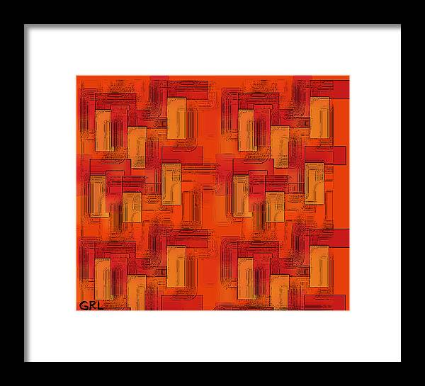 Color Framed Print featuring the painting Color Of Red V Contemporary Digital Art by G Linsenmayer