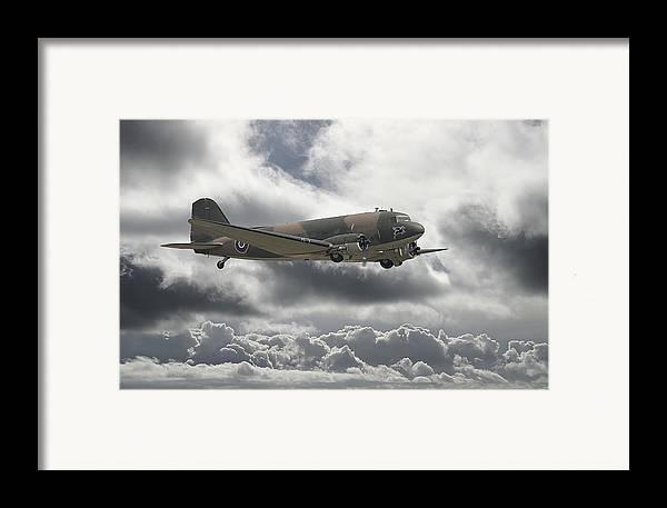 Aircraft Framed Print featuring the digital art  Dc3 Dakota  Workhorse by Pat Speirs