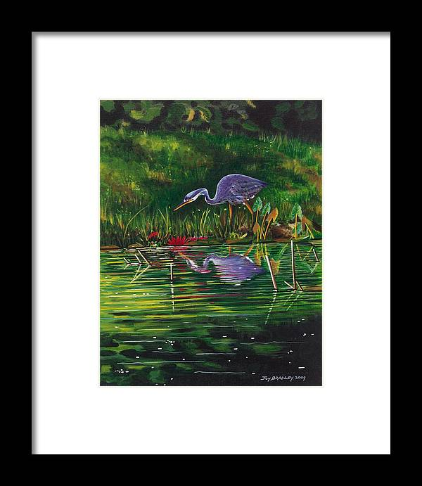 Designs Framed Print featuring the painting Food Chain  by Joy Bradley