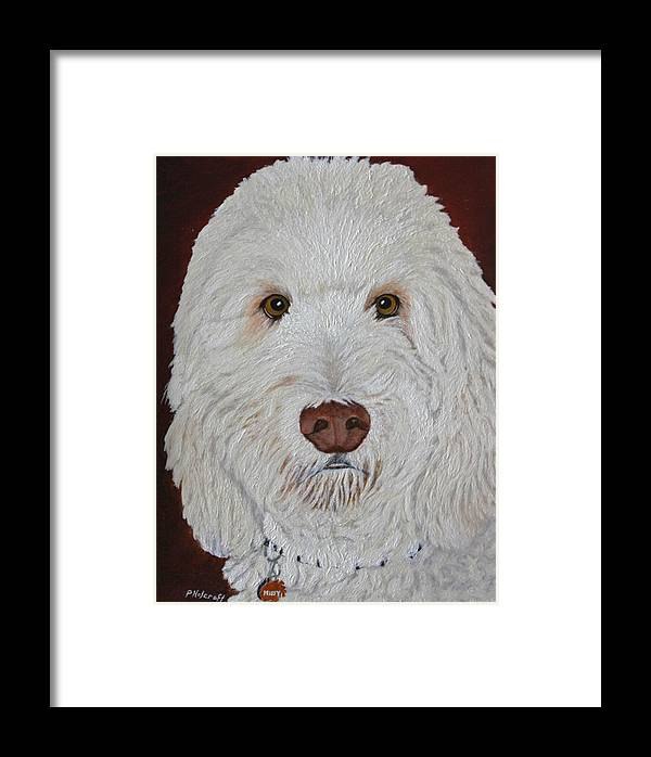 Dogs Framed Print featuring the photograph Golden Doodle by Peggy Holcroft