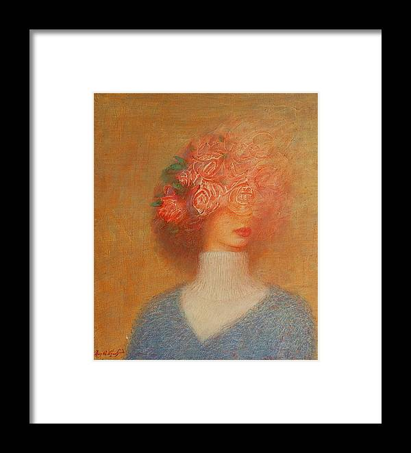 Framed Print featuring the painting Hapiness by Karen Aghamyan
