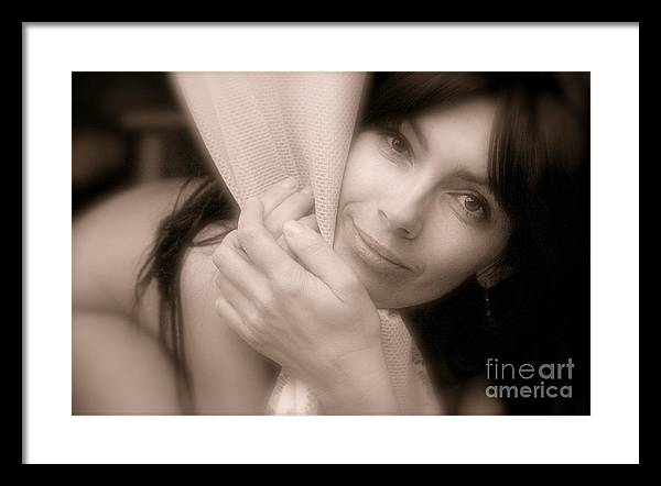 Naked Canvas Prints Framed Print featuring the photograph It Must Be Love. by Andrzej Goszcz