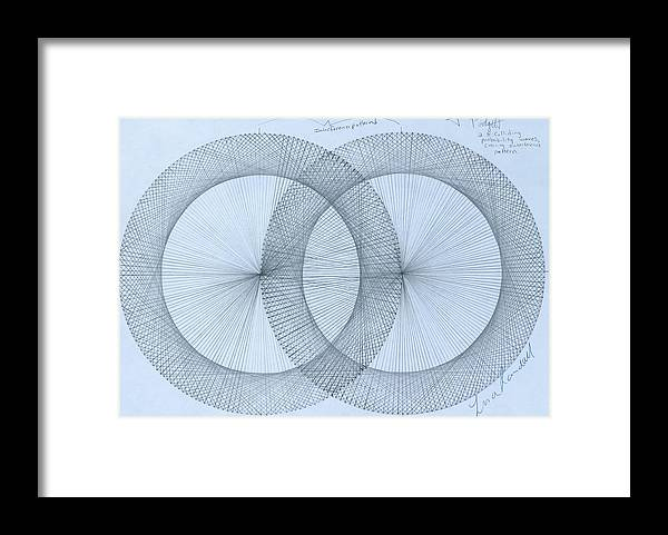 Fractal Framed Print featuring the drawing Magnetism by Jason Padgett
