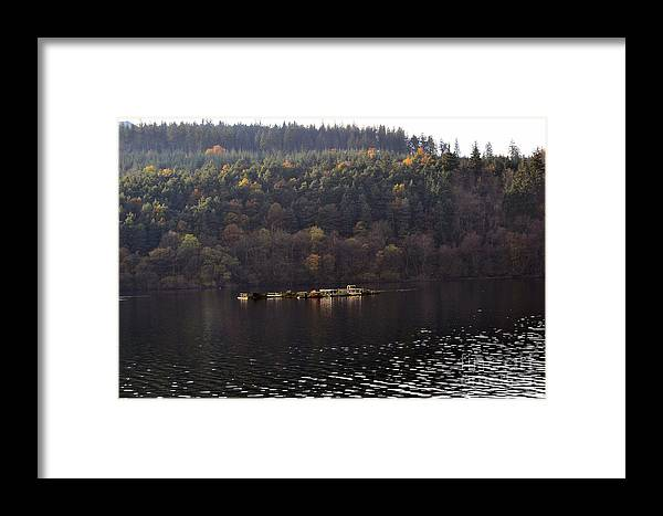 Ladybower Reservoir Framed Print featuring the photograph On The Lake by Andrew Barke