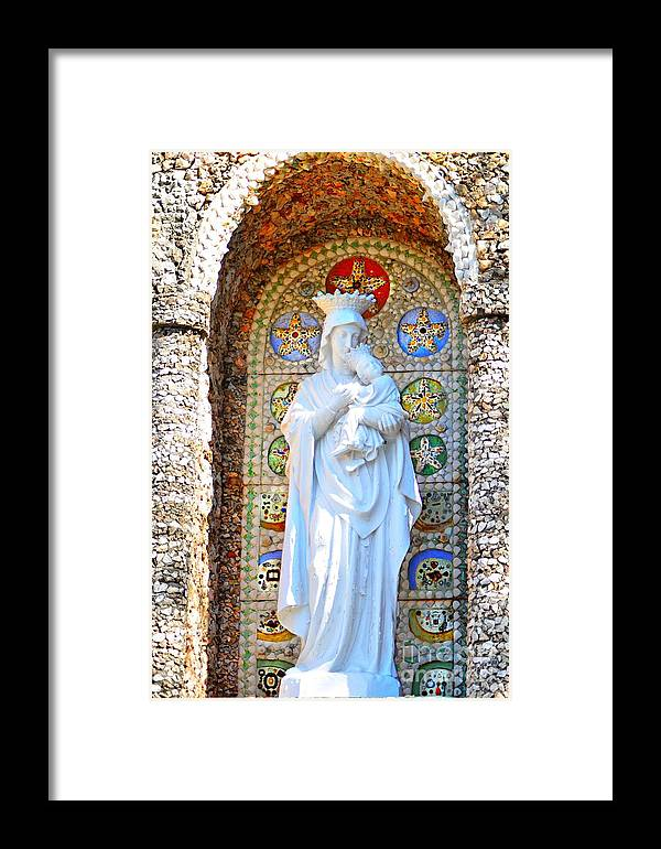 Madonna Framed Print featuring the photograph Our Lady Of Perpetual Help Mary And Jesus by Peggy Franz