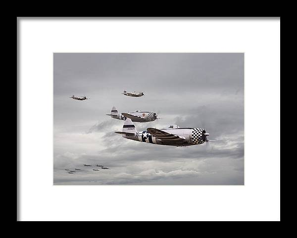 Aircraft Framed Print featuring the photograph P47 Thunderbolt Top Cover by Pat Speirs