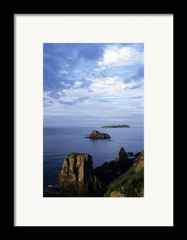 Landscape; Nature; Summer; Land; Reef; Rocks; Evening; Overcast; Cloudiness; World Herritage Sites; Reserve; National Park Framed Print featuring the photograph Russian Far East by Anonymous