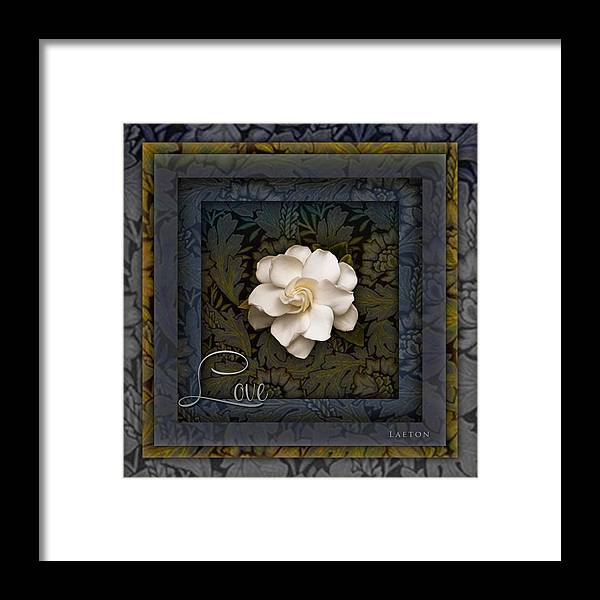 Gardenia Framed Print featuring the photograph The Intoxicating Fragrance Of Love by Richard Laeton