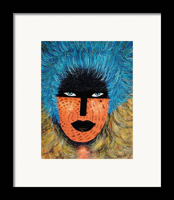 Woman Framed Print featuring the painting Viva Niva by Natalie Holland